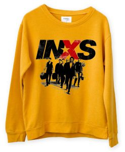 INXS in excess Michael Hutchence The Farriss Brothers Yellow Sweatshirts