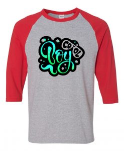 Cool Boy Grey Red Raglan T shirts