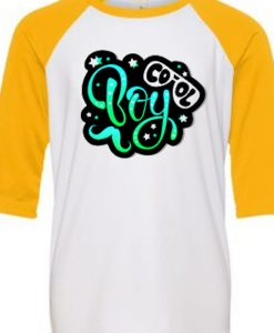 Cool Boy White Yellow Raglan T shirts