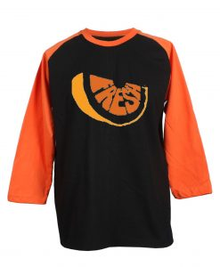 Fresh Black Orange Raglan Tshirts