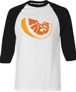 Fresh White Black Raglan Tshirts