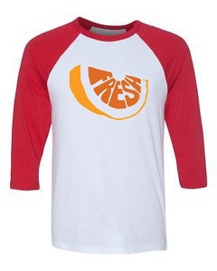 Fresh White Red Raglan Tshirts