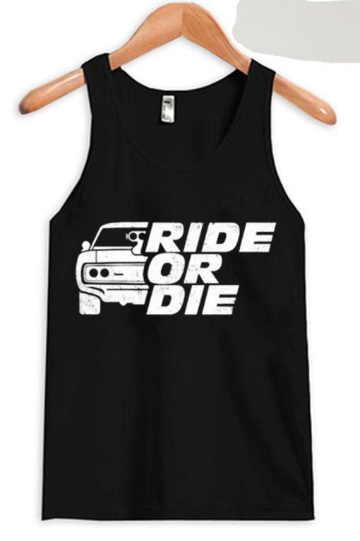 GO RIDE Black Tank Top