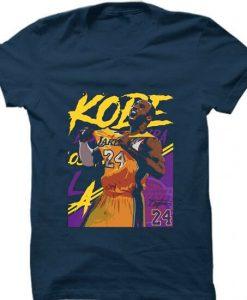 Kobe Bryant 24 Lakers Blue NavyT shirts