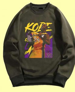 Kobe Bryant 24 Lakers Maroon Green Army Sweatshits