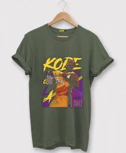 Kobe Bryant 24 Lakers Maroon Green Army T shirts