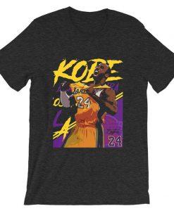 Kobe Bryant 24 Lakers Maroon Grey Asphat T-Shirt